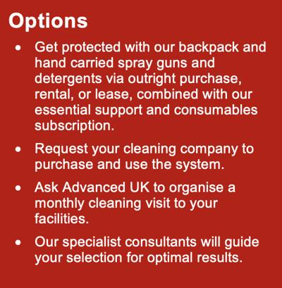 PPE Electrostatic Sprayer Options