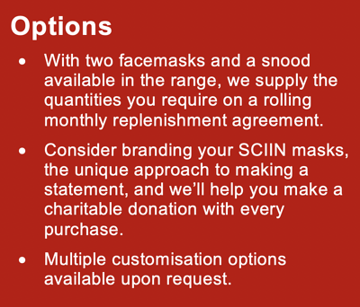 SCIIN Face Masks Options